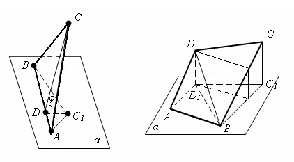 Площадь ортогональной проекции многоугольника